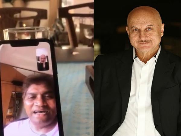 तो इसलिए अनुपम खेर ने जॉनी लीवर के पास किया वीडियो कॉल- धड़ल्ले से हुआ वायरल