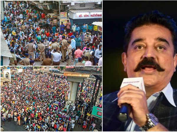 लॉकडाउन के बीच मुंबई के बांद्रा में जमा हुए हजारों मजदूर- कमल हासन ने कहा, टाइम बम की तरह है संकट