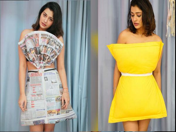 पायल राजपूत के अतरंगी स्टाइल ने चौंकाया, अख़बार से बनीं ड्रेस में दिए बोल्ड पोज- ट्रोलर्स ने लताड़ा