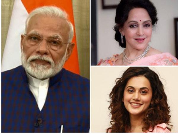 थाली-ताली के बाद PM मोदी ने किया दीया जलाने का आह्वान,हेमा मालिनी से तापसी पन्नू तक बॉलीवुड रिएक्शन