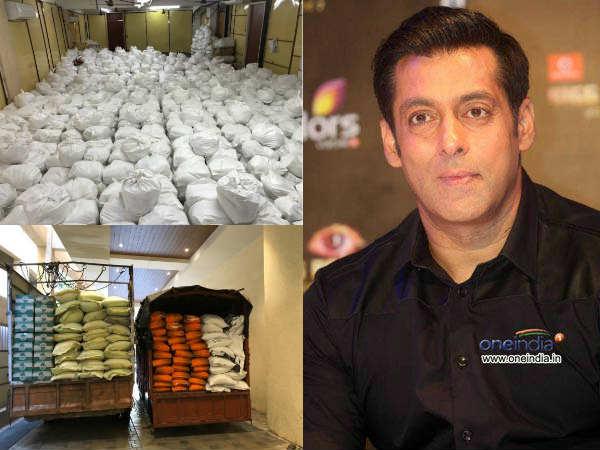 पैसों के अलावा, दिहाड़ी मजदूरों को राशन भी दे रहे हैं सुपरस्टार सलमान खान- विधायक ने शेयर की तस्वीरें