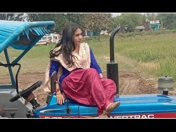 अक्षय कुमार- धनुष की फिल्म 'अतंरगी रे' से सारा अली खान का लुक लीक- जबरदस्त पंजाबी कुड़ी