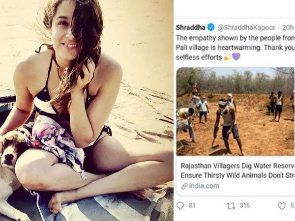 श्रद्धा कपूर का बेजान जानवरों के लिए स्पेशल पोस्ट, राजस्थान के ग्रामीणों की सराहना की