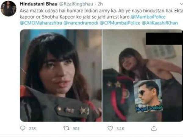 हिंदुस्तानी भाऊ ने किया एकता कपूर पर केस, इंडियन आर्मी पर अश्लील मज़ाक, हो रहे हैं ट्रेंड