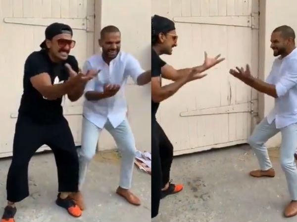 रणवीर सिंह के जन्मदिन पर शिखर धवन का 'खली बली' डांस- वायरल हुआ धमाकेदार वीडियो