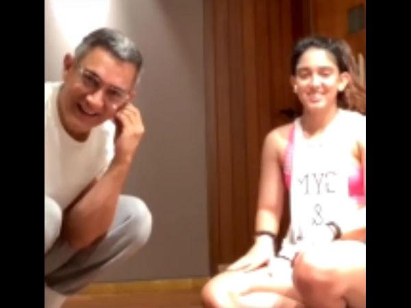 इरा खान के लाइव वर्काउट के दौरान आमिर खान ने मारी एंट्री- चौंक गए ट्रेनर- Video वायरल
