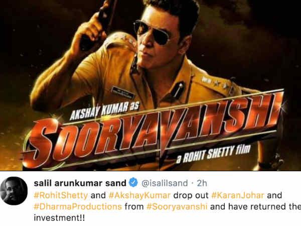 क्या सूर्यवंशी पर लगाया सारा पैसा वापस लेकर फिल्म छोड़ चुके हैं करण जौहर | Karan johar quits Rohit Shetty's Sooryavanshi, taken back all money?