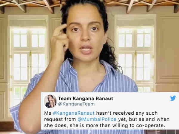 सुशांत सिंह राजपूत सुसाइड केस: कंगना रनौत से पूछताछ पर एक्ट्रेस ने तोड़ी चुप्पी, किया मदद का वादा