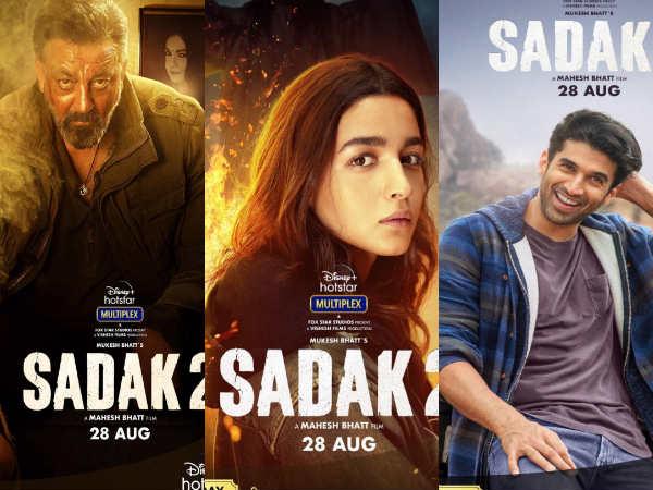 Sadak 2- संजय दत्त, आलिया भट्ट और आदित्य के दमदार पोस्टर्स के साथ ट्रेलर रिलीज डेट का ऐलान