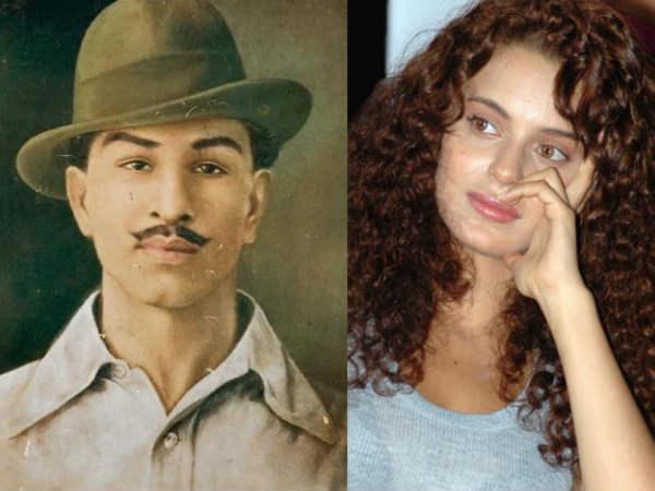 कंगना रनौत ने शहीद भगत सिंह लेकर किया ये ट्वीट, हो रहा है तेजी से वायरल