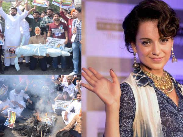 पंजाब में फूंका गया कंगना रनौत का पुतला, एक्ट्रेस ने उड़ाया कांग्रेस का मजाक, बोलीं मैं मंत्री हूं?