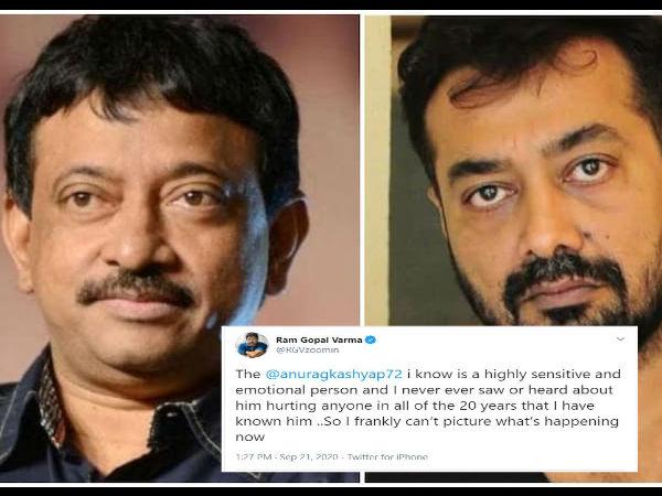 अनुराग कश्यप के सपोर्ट में उतरे रामगोपाल वर्मा, कही ये बड़ी बात
