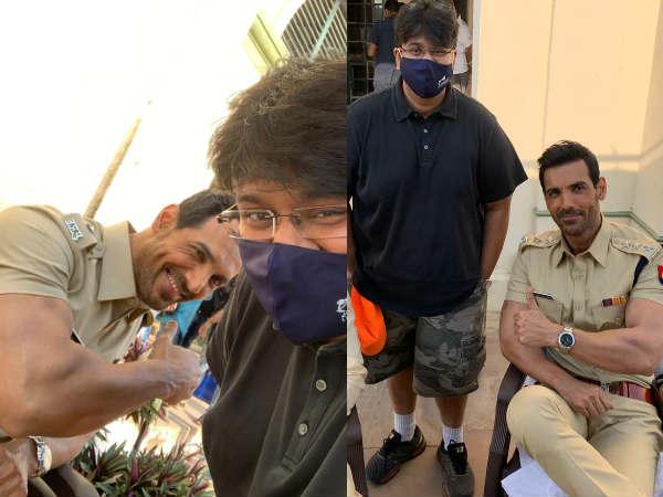 लखनऊ में चल रही है सत्ममेव जयते 2 की शूटिंग, सामने आई जॉन अब्राहम की धमाकेदार तस्वीर