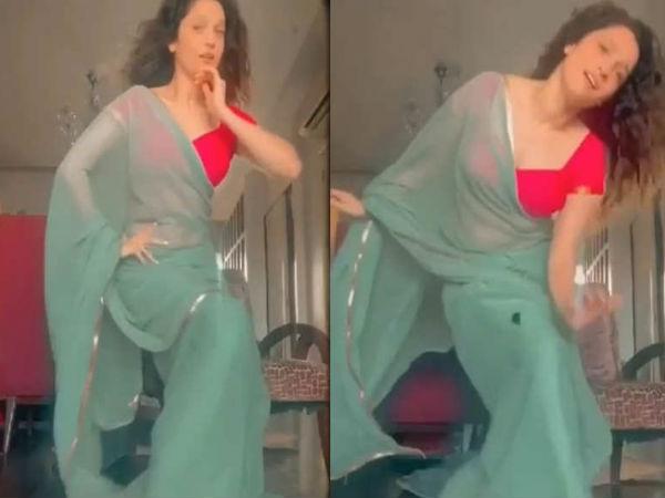 अंकिता लोखंडे ने 'संवार लूं' गाने पर किया जबरदस्त डांस, साड़ी में दिख रहीं शानदार- वीडियो वायरल