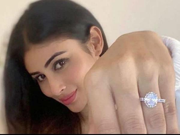 मौनी रॉय ने शेयर की हीरे की अंगूठी वाली तस्वीर, सेलेब्स बोले- सगाई कर ली तुमने?