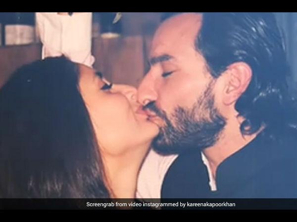 सैफ अली खान - करीना कपूर की सनसनी मचा देने वाली KISS की तस्वीरें, शादी को 8 साल पूरे PICS