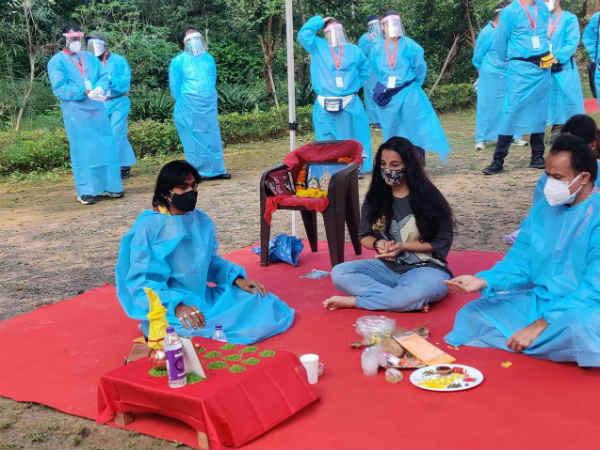 लॉकडाउन के बाद, विद्या बालन ने मध्य प्रदेश में शुरु की फ़िल्म 'शेरनी' की शूटिंग- देंखे PHOTOS