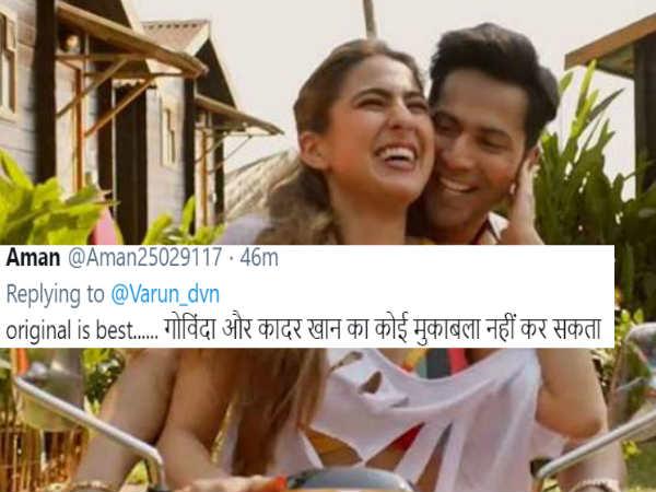 ट्रेलर रिलीज होते ही ट्रोल हुए वरुण धवन और सारा अली खान, फैंस बोले 'कुली नंबर 1 मतलब गोविंदा'