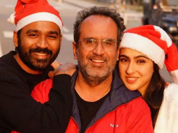सारा अली खान के साथ रांझणा स्टार धनुष की तस्वीर आई सामने, अतरंगी रे के सेट पर मनाया क्रिसमस!