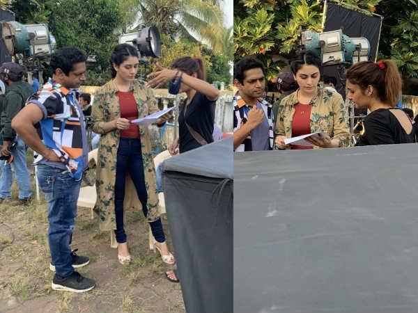 गोवा में फिल्म की शूटिंग करतीं स्पॉट की गईं वरीना हुसैन, लग रहीं हैं काफी खूबसूरत