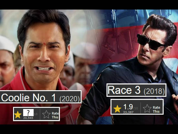 वरुण धवन की कुली नंबर 1 को IMDB ने दी सलमान खान की रेस 3 से भी कम रेटिंग्स, रिपोर्ट!