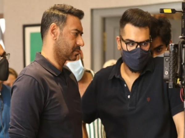 अजय देवगन की फिल्म MayDay का पहला शेड्यूल पूरा, सेट से सामने आई ये खास फोटो