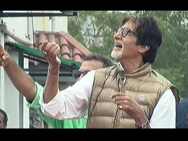 अमिताभ बच्चन ने की पतंगबाजी