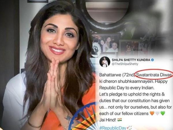 26 जनवरी पर शिल्पा शेट्टी ने मनाया 15 अगस्त, स्वतंत्रता दिवस की बधाई देने पर जमकर TROLL