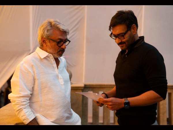 गंगूबाई काठियावाड़ी के सेट पर संजय लीला भंसाली और अजय देवगन, आज से शूटिंग शुरु- देंखे तस्वीर