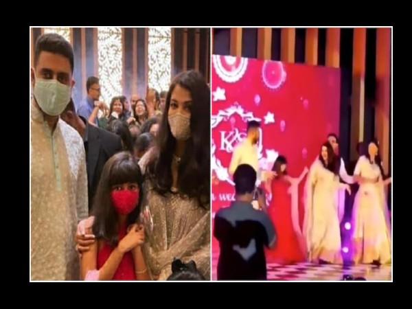 'देसी गर्ल' सांग पर बेटी के साथ अभिषेक बच्चन- ऐश्वर्या राय बच्चन ने किया जमकर डांस, देखिए VIDEO