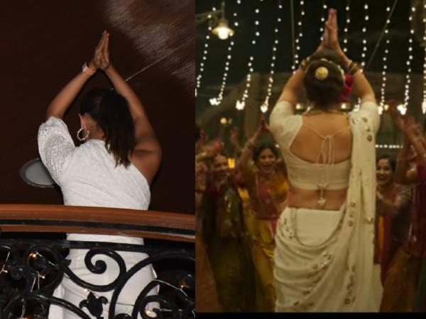 Pics: संजय लीला भंसाली की बर्थडे पार्टी में आलिया ने पहुंचते ही बालकनी से दिया गंगूबाई पोज़