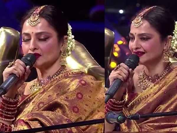दोस्तों को फोन कर गाने सुनाने लगती हैं सुपरस्टार रेखा | Is Rekha calling her industry friends and singing for them on phone?