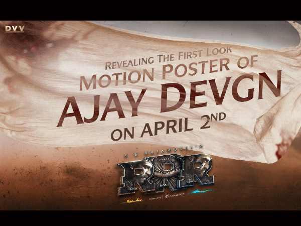 आरआरआर से अजय देवगन का फर्स्ट लुक, जन्मदिन पर होगा मोशन पोस्टर रिलीज, जबरदस्त धमाका