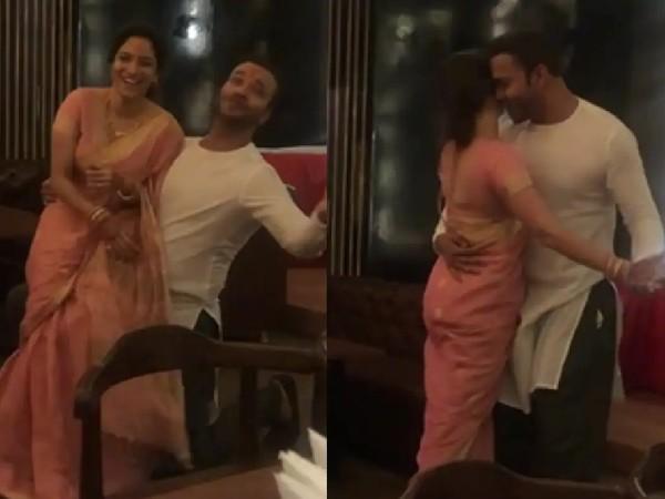 अंकिता लोखंडे ने बॉयफ्रेंड विकी जैन के साथ किया जबरदस्त डांस, साड़ी में दिखाया सेक्सी अंदाज-VIDEO