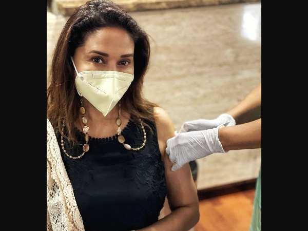 माधुरी दीक्षित समेत कई सेलेब्स ने लिया कोरोना वैक्सीन का दूसरा डोज़