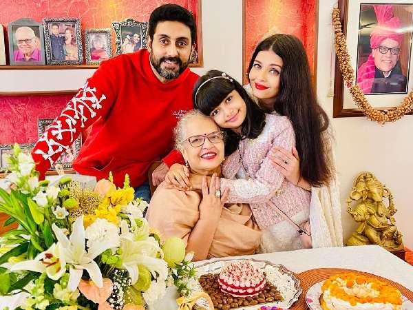 ऐश्वर्या राय ने अभिषेक बच्चन और आराध्या के साथ अपनी मां का जन्मदिन किया सेलिब्रेट, PHOTOS