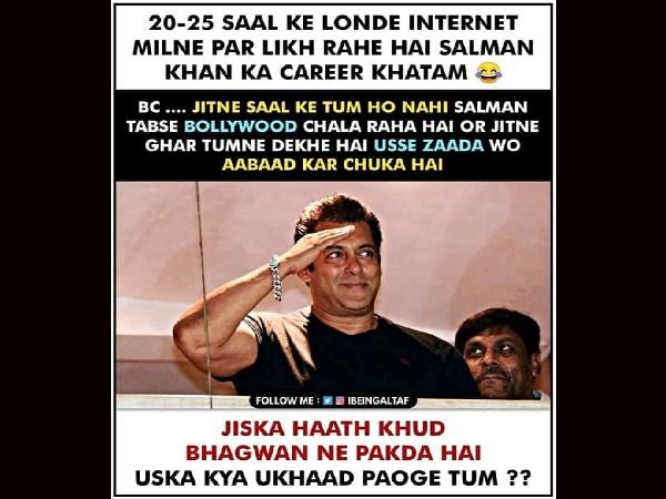 सलमान खान के फैंस ने ट्रोलर्स को दिया मुंहतोड़ जवाब, खूबियां बताते हुए ट्रेंड किया 'वी लव यू सलमान खान'