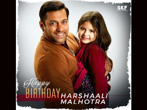 सलमान खान फिल्म्स ने 'मु्न्नी' हर्षाली मल्होत्रा के जन्मदिन पर ऐसे किया विश!
