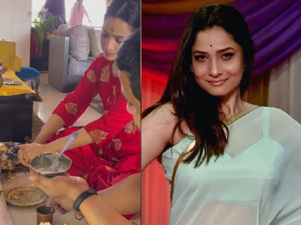 अंकिता लोखंडे ने घर पर रखवाई पूजा, वीडियो आया सामने