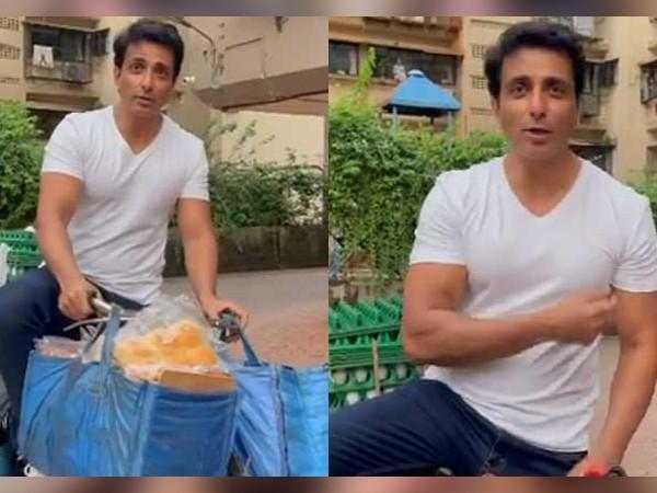 साइकिल पर अंडा, ब्रेड बेचते नजर आए सोनू सूद, वायरल हुआ वीडियो