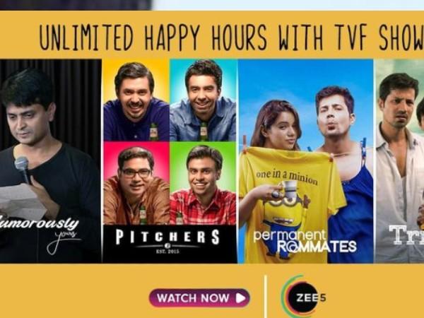 ज़ी5 ने TVF के साथ की पार्टनरशिप की घोषणा, ढेर सारे शो के साथ होगा घर बैठे एंटरटेनमेंट