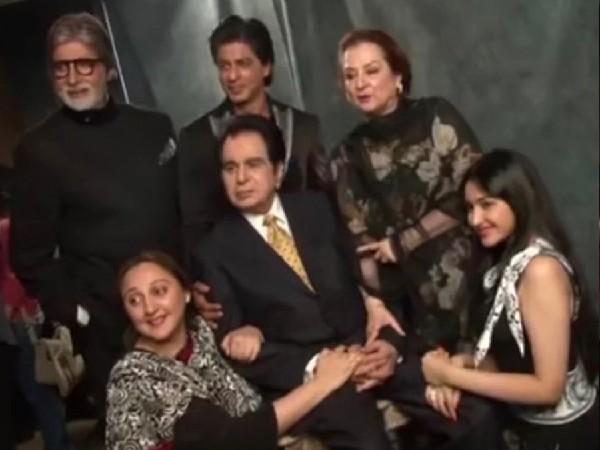 दिलीप कुमार की दुर्लभ तस्वीर आई सामने, साथ नजर आए शाहरुख खान और अमिताभ बच्चन!