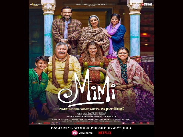 Mimi Poster- मिलिए 'मिमी' के पूरे परिवार से, कल रिलीज होगी कृति सैनन की फिल्म का ट्रेलर!