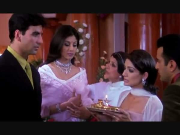 अक्षय कुमार और शिल्पा शेट्टी की फिल्म 'धड़कन' का एक सीन हो रहा है वायरल