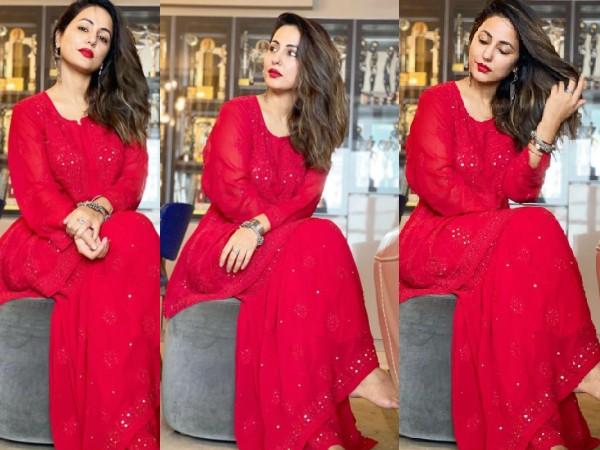 ईद पर शरारा में हिना खान ने दिखाया हॉट अवतार, खूबसूरत तस्वीरें कर देंगी आपको इंप्रेस