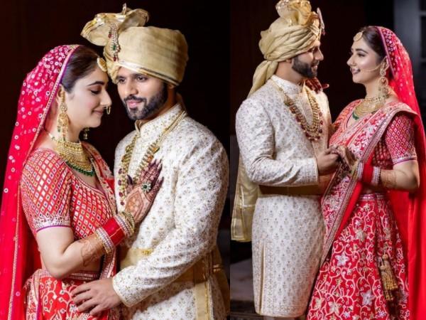 DiShul Wedding:राहुल वैद्य-दिशा परमार शादी के बंधन में बंधे, लंहगा-शेरवानी अबू जानी घोसला ने किया डिजाइन- PICS