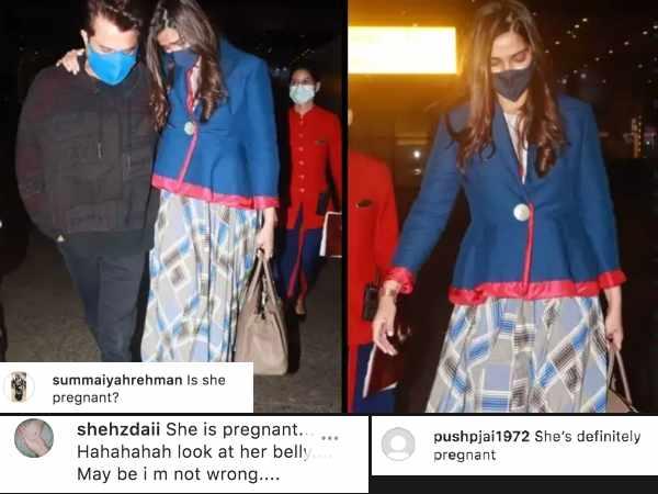 सोनम कपूर लग रही हैं प्रेगनेंट, फैन्स ने तस्वीरों पर किया कमेंट | Sonam Kapoor looks pregnant fans react to pictures of her return to India after an year