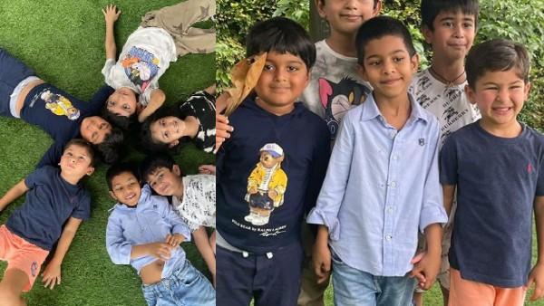 पहली बार अपने बॉय गैंग के साथ नजर आए तैमूर, करीना कपूर खान ने साझा की तस्वीरें!