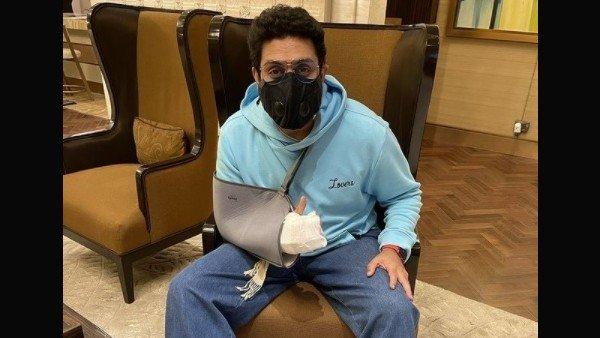 हाथ की सर्जरी के बाद फिल्म शूटिंग पर वापस पहुंचे अभिषेक बच्चन, शेयर की तस्वीर