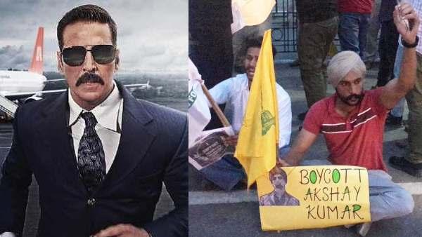 'अक्षय कुमार की फिल्म देखने वालों शर्म करो', बेल बॉटम को लेकर भारी विरोध प्रदर्शन